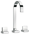 Novello widespread lavatory faucet with lever handles in Chrome