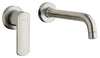 Novello single handle wall-mount lavatory faucet in Brushed Nickel