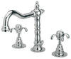 Ornellaia widespread lavatory faucet with cross handles in Chrome