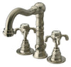 Ornellaia mini-widespread lavatory faucet with cross handles in Brushed Nickel