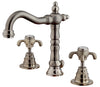 Ornellaia widespread lavatory faucet with cross handles in Brushed Nickel