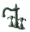 Ornellaia mini-widespread lavatory faucet with cross handles in Tuscan Bronze