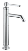 Firenze tall single handle lavatory vessel filler in Chrome