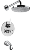 Firenze Thermostatic Tub and Shower Set With 2-Way Diverter Volume Control in Chrome