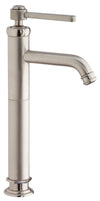 Firenze tall single handle lavatory vessel filler in Brushed Nickel