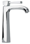 Lady tall single lever handle lavatory vessel filler in Chrome