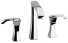 Lady widespread lavatory faucet with lever handles in Chrome