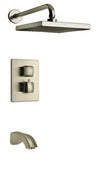 Lady Thermostatic Tub and Shower Set With 2-Way Diverter Volume Control in Brushed Nickel