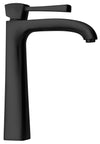 Lady tall single lever handle lavatory vessel filler in Matt Black