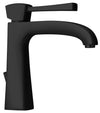 Lady single lever handle lavatory faucet in Matt Black
