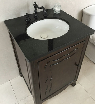 Abner 24 in Single sink vanity-manufactured wood-sable walnut