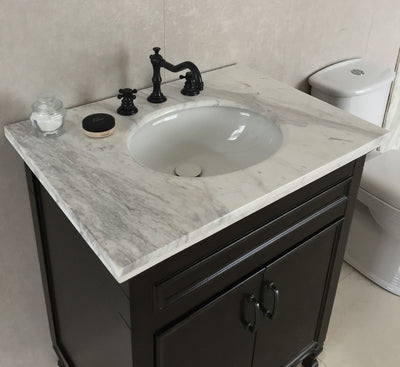 Sanjay 30 in Single sink vanity-manufactured wood-sable walnut