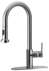 LaTascana Elix single handle pull-down spray kitchen faucet in Chrome