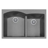 "LaToscana Plados 33"" x 22"" Double Basin Granite Drop-In Sink in a Titanium Finish"