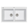 "LaToscana Plados 34"" x 20"" Double Basin Granite Drop-In Sink in a Milk White Finish"