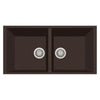 "LaToscana Plados 34"" x 18"" Double Basin Granite Undermount Sink in a Brown Finish"