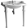 BRENDA, Isabella, Rectangular Console w/ Integrated Oval Bowl