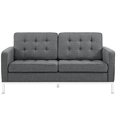 roman-upholstered-fabric-love-seat-gray