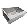 Nantucket Sinks' EZApron33-5.5 Patented Design Pro Series Single Bowl Undermount  Stainless Steel Kitchen Sink with 5.5 Inch Apron Front