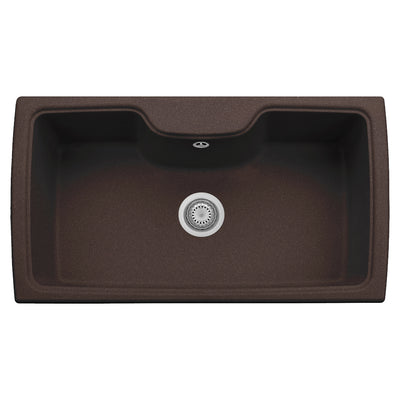 "LaToscana Plados 35"" x 20"" Single Basin Granite Drop-In Sink in a Titanium Finish"
