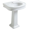 BAYLEE Isabella Pedestal Sink w/ Oval Bowl, Trim, Rear Overflow