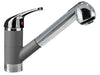 LaTascana Mixbix single handle pull-out faucet in Titanium Finish