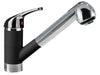 LaTascana Mixbix single handle pull-out faucet in Black Metallic