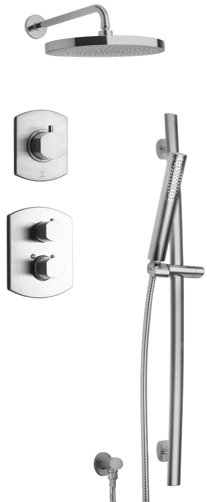 Novello Thermostatic Shower With 3 4 Ceramic Disc Volume Control 3 Way Diverter And Slide Bar In Chrome