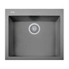 "LaToscana Plados 23"" x 20"" Single Basin Granite Drop-In Sink in a Titanium Finish"