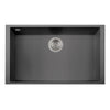 "LaToscana Plados 30"" x 18"" Single Basin Granite Undermount Sink in a Titanium Finish"