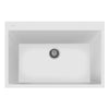 "LaToscana Plados 33"" x 22"" Single Basin Granite Drop-In Sink in a Black Finish"