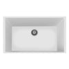 "LaToscana Plados 33"" x 22"" Single Basin Granite Undermount Sink in Milk White"