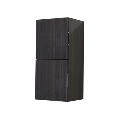 "Bliss 12"" Wide by 24"" High Linen Side Cabinet With Two Doors in High Gloss Gray Oak Finish"