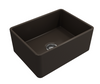 BOCCHI 24in. Classico Farmhouse Sink in Matte Brown