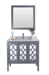 Mediterraneo - 36 - Grey Cabinet + White Carrera Counter