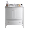 Estella 32 - White Cabinet + White Carrera Counter