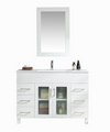 Nova 48 - White Cabinet + Ceramic Basin Counter