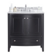Estella 32 - Espresso Cabinet + White Carrera Counter