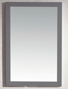 "Sterling Fully Framed 24"" Maple Grey Mirror"