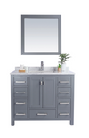 Wilson 42 - Grey Cabinet + White Carrara Countertop