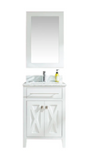 Wimbledon - 24 - White Cabinet + White Carrera Counter