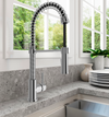 BOCCHI Livenza Spiral Pull-Down Spray Kitchen Faucet - Polished Chrome