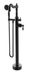 Ornellaia free-standing floor-mounted tub filler with 2.0 GPM hand shower in Tuscan Bronze
