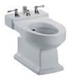 TOTO® Lloyd® Deck Mount Vertical Spray Flushing Rim Bidet, Cotton White - BT930B#01