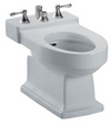 TOTO® Lloyd® Deck Mount Vertical Spray Flushing Rim Bidet, Cotton White - BT930B#11
