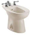 TOTO® Piedmont® Deck Mount Vertical Spray Flushing Rim Bidet, Sedona Beige - BT500B#12