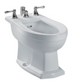 TOTO® Clayton® Deck Mount Vertical Spray Flushing Rim Bidet, Colonial White - BT784B#11