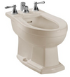 TOTO® Clayton® Deck Mount Vertical Spray Flushing Rim Bidet, Sedona Beige - BT784B#12