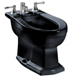 TOTO® Clayton® Deck Mount Vertical Spray Flushing Rim Bidet, Ebony - BT784B#51