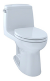 TOTO® Eco UltraMax® One-Piece Elongated 1.28 GPF ADA Compliant Toilet, Cotton White - MS854114EL#01